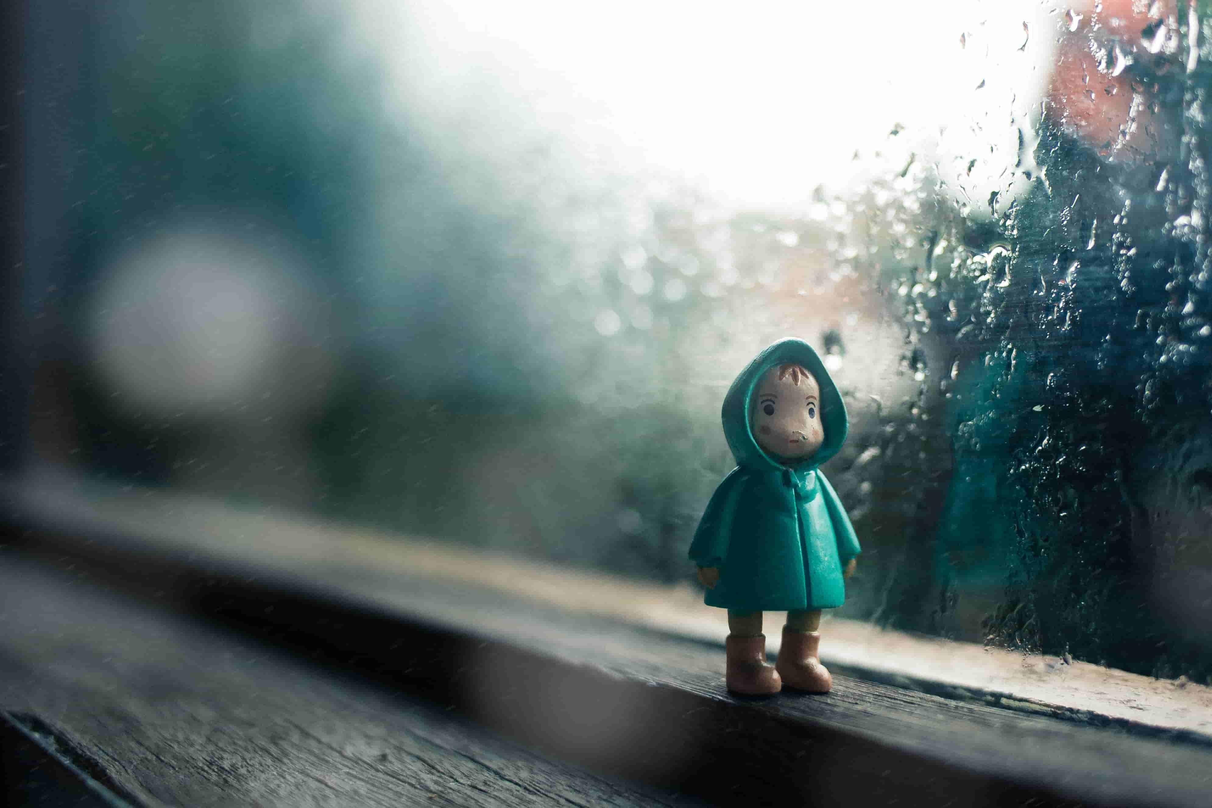 一緒に雨に濡れること